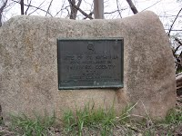 Albert Lea MN DAR Historical Marker before restoration